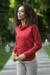 Cotton blend pullover, 'Cerise Red Versatility' - Knit Cotton Blend Pullover in Solid Cerise Red from Peru thumbail