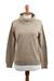 Cotton blend pullover, 'Taupe Versatility' - Cotton Blend Pullover in Taupe from Peru (image 2a) thumbail