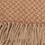 Alpaca blend throw, 'Earth Swirls' - Patterned Alpaca Blend Throw in Brown from Peru (image 2d) thumbail