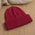 100% alpaca knit hat, 'Comfy in Red' - Crimson Red 100% Alpaca Soft Cable Knit Hat from Peru (image 2c) thumbail
