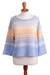 Cotton blend pullover, 'Sunset in Spring' - Ombre Fade Knit Cotton Blend Pullover Sweater from Peru (image 2a) thumbail