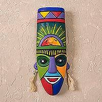 Ceramic mask, 'Inca Priest' - Hand Crafted Ceramic Mask