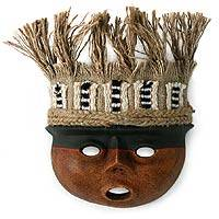 Recycled paper mask Ancient Peru