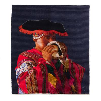 Wool and cotton tapestry