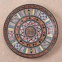 Cuzco plate, 'Inca Iconography' - Hand Made Ceramic Plate