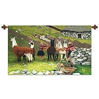 Wool tapestry,