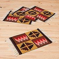 Wool placemats Pukio Lake set of 4 Peru