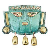 Copper mask, 'Warrior God Ai Apaec' - Copper mask