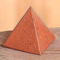 Jasper pyramid, 'Pyramid of Dreams' - Artisan Crafted Gemstone Jasper Pyramid Sculpture