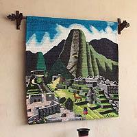Wool tapestry Machu Picchu Peru
