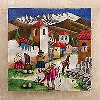 Wool tapestry, 'Highland Streets'