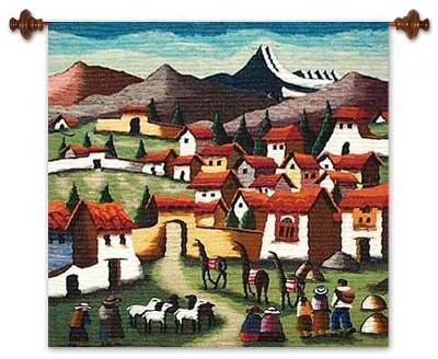 Fair Trade Cultural Wool Tapestry Wall Hanging