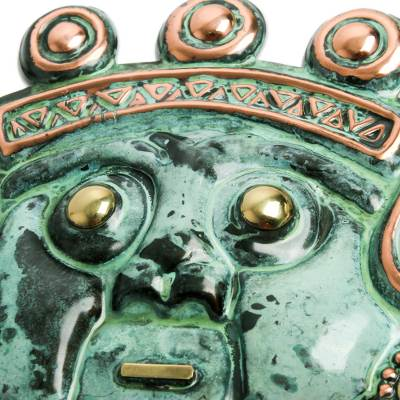 Archaeological Bronze and Copper Masks (Set of 3)