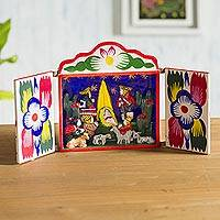 Painted wood retablo, 'Chapel of Loreto' - Painted wood retablo