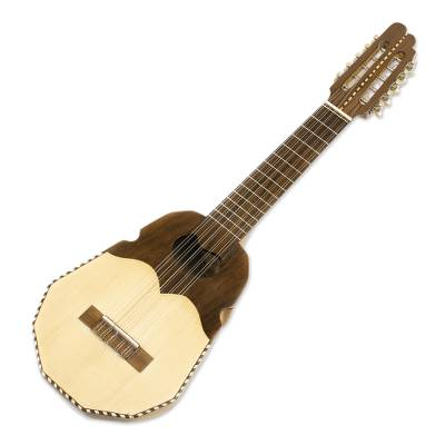 Wood ronroco guitar, 'Chavin Sun' - Wood ronroco guitar