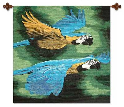 Handmade Wool Bird Tapestry Wall Hanging