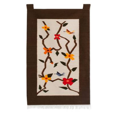 Fair Trade Floral Wool Tapestry