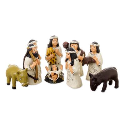 Ceramic nativity scene