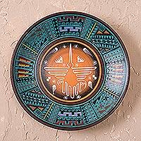 Ceramic plate, 'Nazca Hummingbird'