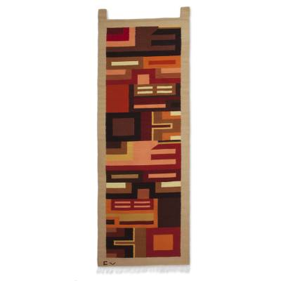 Fair Trade Geometric Wool Tapestry Wall Hanging