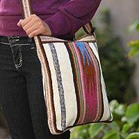 Wool shoulder bag, 'Andean Dream' - Handmade Wool Sling Bag