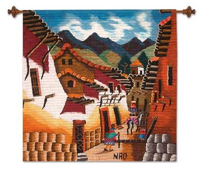 Cultural Wool Tapestry Wall Hanging
