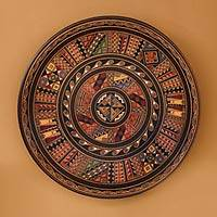 Cuzco plate, 'Tie Up the Sun' - Cuzco Ceramic Decorative Wall Plate