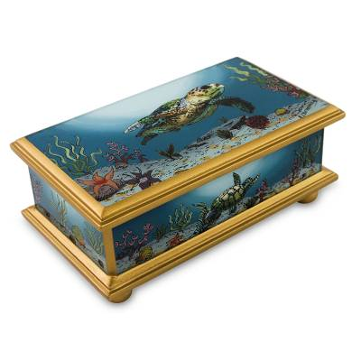 Painted glass box