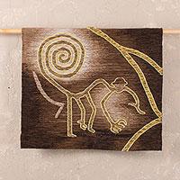Alpaca wool tapestry,