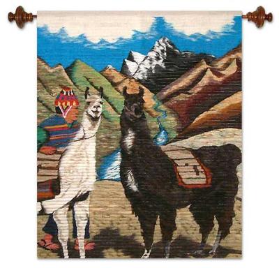 Llama Themed Wall Tapestry