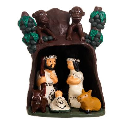 Collectible Nativity Scene Ceramic Sculpture