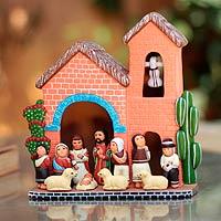 Ceramic nativity scene,