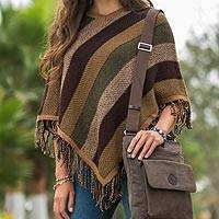 Alpaca poncho, 'Earth Surprise'  (Peru)