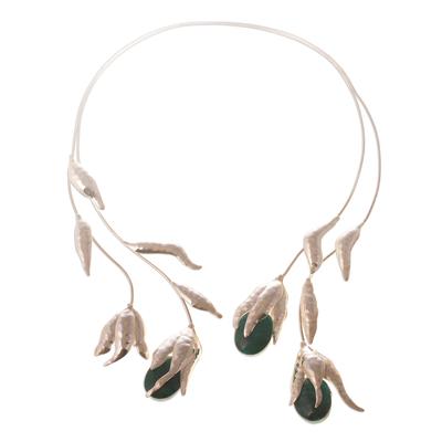 Chrysocolla wrap necklace