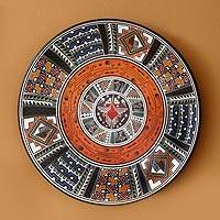 Cuzco plate, 'Cosmic Hummingbird' - Cuzco Decorative Wall Plate