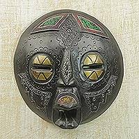 Wood mask, 'Be Patient' - Wood mask