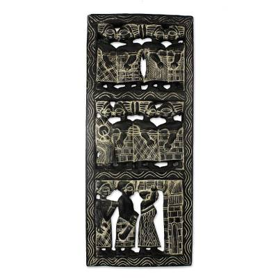 Cultural Wood Relief Panel