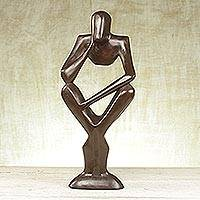 Wood sculpture, 'Wishful Thinking' - Wood sculpture