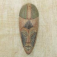 Ewe wood mask, 'Deliverance' - Ewe wood mask