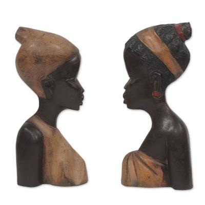 Wood wall adornments (Pair)