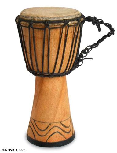 Fair Trade African Wood Djembe Drum