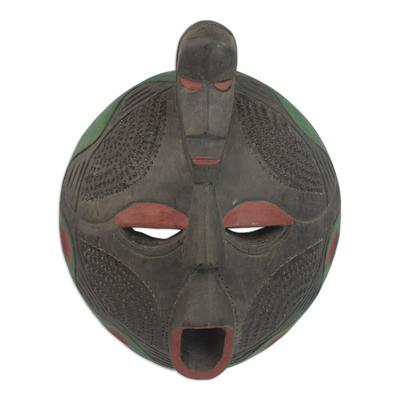 Artisan Crafted Akan Tribal Wood Mask