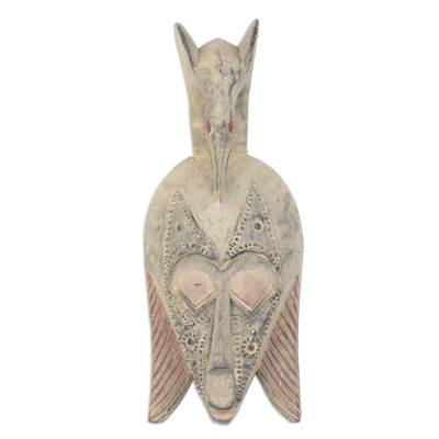 Ewe wood mask, 'Xevi Bird' - Ewe wood mask