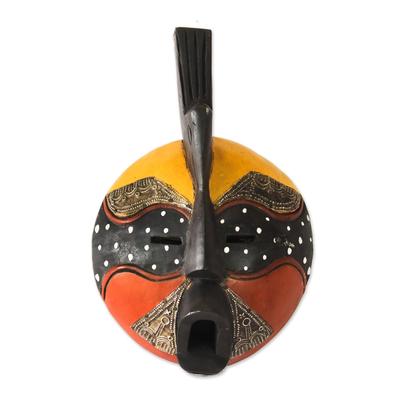 Hand Carved Akan Tribal Mask