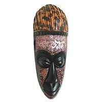 Akan wood mask, 'Hunter's Ritual' - Akan wood mask