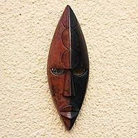 Akan wood mask, 'Great Knowledge' - Akan wood mask