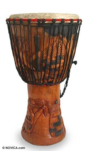 Hand Made Wood Djembe Drum