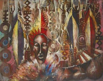 'Historical Journey' (2006) - African Oil Painting