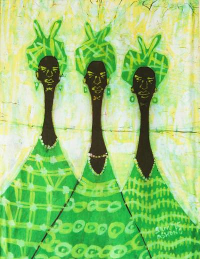 Handcrafted African Batik Cotton Wall Art