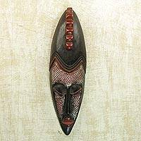Akan wood mask, 'Antelope' - Fair Trade Wood Mask